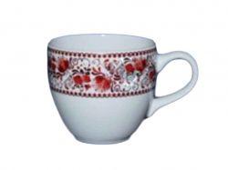 Чашка Одеса 0,210л біла з деколью Гжель ТМАВАНГАРД