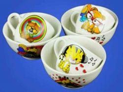 Набір дитячий з деколью Мікс з 2х предметів: чашка і салатник0,5л ТМАВАНГАРД