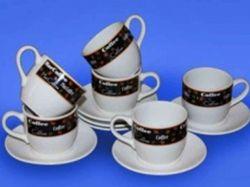 Набір Кавовий з 12 предметів (чашка Одеса 210 мл і блюдце кавове) ТМАВАНГАРД