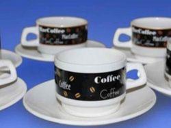 Набір Кавовий з 12 предметів (чашка кавова 150 мл і блюдце кавове) ТМАВАНГАРД