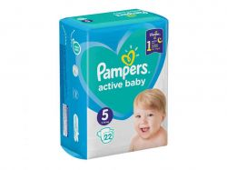 Подгузник Active Baby № 5 (11-16 кг), 22 шт. ТМPAMPERS