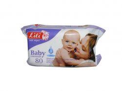 Вологі серветки для дітей з екстрактом ромашки (80 шт.) ТМLili