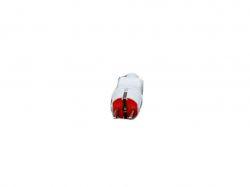 Вилка білого помаранчевий колір із заземленням з вушком 5011 (1316 )ТМOPV
