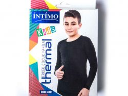 Джемпер для хлопчiка на флiсi термо р. 9/10 чорний арт.4081 ТМINTIMO