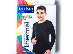 Джемпер для хлопчiка на флiсi термо р. 7/8 чорний арт.4081 ТМINTIMO