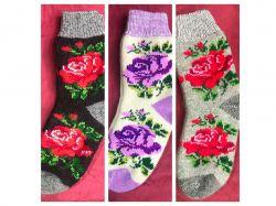 Шкарпетки жіночi вовна троянда мiкс (1 пара) р.36-40 ТМЗАПАДНАЯ