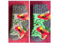 Шкарпетки дитячi вовна квiти мiкс (1 пара) р.2-3 ТМЗАПАДНАЯ
