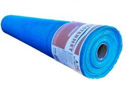 Сітка склотканева фасадна 5*5, 1*50м MASTERNET 145г/м синя ТМMasterplast