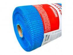 Сітка склотканева фасадна 5*5, 1*50м MASTERNET 160г/м синя ТМMasterplast
