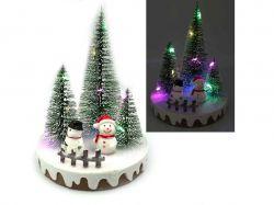 Новорічна LED декорація 3D фігурки Сніговик 14х10,5см. 0090L ТМКИТАЙ