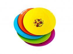 Блюдо пл. кругле(320х320х50) кольор. з малюком мікс ТМПОЛІМЕРАГРО