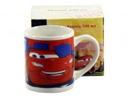 Чашка фарфорова 240мл Тачки червоні CAR-M66 ТМINTEROS
