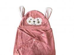 Плед дитячiй з уголком Зайчик рожевий ТМПЛАТКИ-ОПТ
