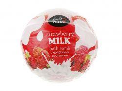 Бомба д/ванн з протеїнами молока STRAWBERRY 75г.,колір червоний ТМDOLCE VERO