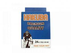 Камера для велосипеда d-24*1.75/2.125 AV Hakuba