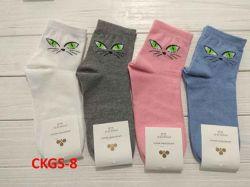 Шкарпетки жіночі(10 пар/уп)стрейч асорті CKGS-8 р.36-40 ТМЗолотий Клевер