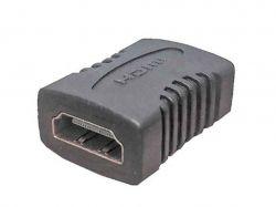 Перехідник HDMI гн.-HDMI гн. gold пластик ТМКитай