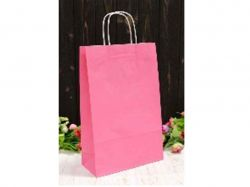 Пакет крафт подарунковий однотонийй 24 * 37 * 10см рожевий ТМУПАКОВКИН