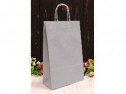 Пакет крафт подарунковий однотонийй 24 * 37 * 10см сірий ТМУПАКОВКИН