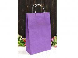 Пакет крафт подарунковий однотонийй 24 * 37 * 10см фіолетовий ТМУПАКОВКИН