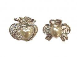 Крабики з перлами 2,5 см NA-3776 ТМКитай