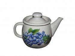 Чайник емальований 1,0л/2 Лохина (молочна) (І2707/2) ТМIDILIA