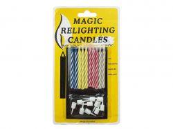 Набір свічок для торту 6см.МЕДЖИК, незатухаючі (10шт/уп) 868098 ТМPELICAN