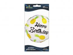 Кулька фольгана Happy Birthday ананас, 45см 835102 ТМPELICAN