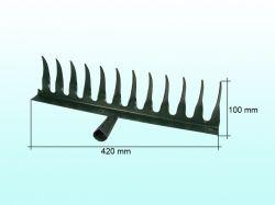 Граблі завиті 12 зубців 2 мм, чорні ТМ ТОКМАК