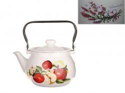 Чайник емальований 2,5л/2 Квіткова вуаль (молочна) (I2710/2) ТМIDILIA