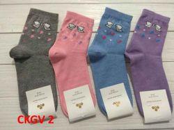 Шкарпетки жiн. демісезонi мiкс (10 пар/уп) р.23-25 арт.СKGV 2 ТМЗолотой клевер
