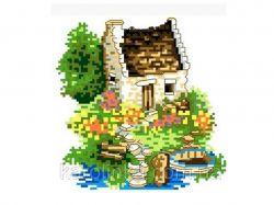 Набір для вишивки А5 Будиночок біля озера КТКН-03 ТМКаролінка Азовя