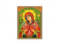 Схема для вишивки Aida №16 Ікона БМ ККИ-5009 ТМКаролінка Азовя