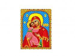 Схема для вишивки Aida №16 Ікона БМ Владимирська ККИ-5048 ТМКаролінка Азовя