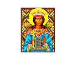 Схема для вишивки Aida №16 Св. Муч. Ірина ККИ-5028 ТМКаролінка Азовя