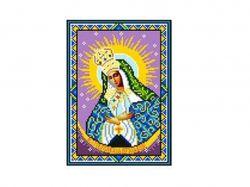 Схема для вишивки Aida №16Ікона БМ Остробрамська ККИ-5018 ТМКаролінка Азовя
