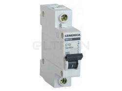 Автоматичний вимикач GENERICA ВА47-29 1P C10 4.5кА MVA25-1-010-C ТМIEK