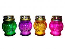 Лампадка скляна зі свічкой, 90х70мм (24 шт/уп) ТМУКРАЇНА