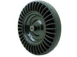 Колесо для тачки цільнолите, металевий диск на підшипнику (DW-SR 4х8) ТМDETEX