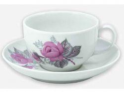 Чайна пара (Чашка 210мл з блюдцем) Янтарь Дика троянда 06351 ТМДФЗ