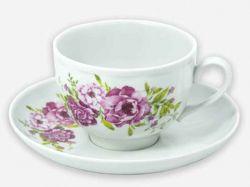 Чайна пара (Чашка 275мл з блюдцем) Гранатовий Олівія 09052 ТМДФЗ