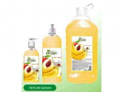 Крем-мило Персик-Банан запаска 0,5л ТМEKOLAN