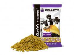 Принада в гранулах фідер Pellets Кукурудза 3мм. 1 кг. ТМANVI-FISHING