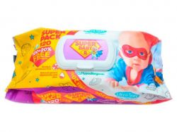 Вологі серветки SuperPack ромашка та алоє, 15шт ТМSuper Baby