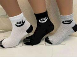 Шкарпетки чоловічі сiтка найк арт.М0121-8 (12 пар/уп) р.40-45 колiр в асорт. ТМ - Картинка 1