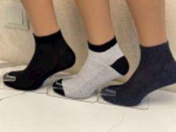 Шкарпетки чоловічі сiтка заниж. арт.М0121-9 (12 пар/уп) р.40-45 колiр в асорт. Т - Картинка 1