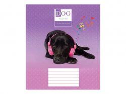 Зошит 24 клітинка (16 шт) арт.3033к Собаки в наушниках ТММРІЇ ЗБУВАЮТЬСЯ