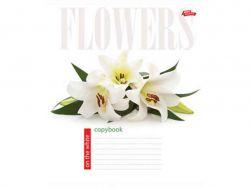 Зошит 24 лінія (16 шт) арт.3111л Квіти на білому ТММРІЇ ЗБУВАЮТЬСЯ