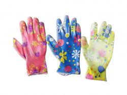 Перчатки робочі трикотаж (частков. облив поліуретан) в асорт. арт.N 629 ТМКитай