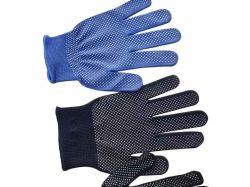 Перчатки жіночі х/б з ПВХ крапкою (колір в асортименті) арт.N-11 ТМКИТАЙ